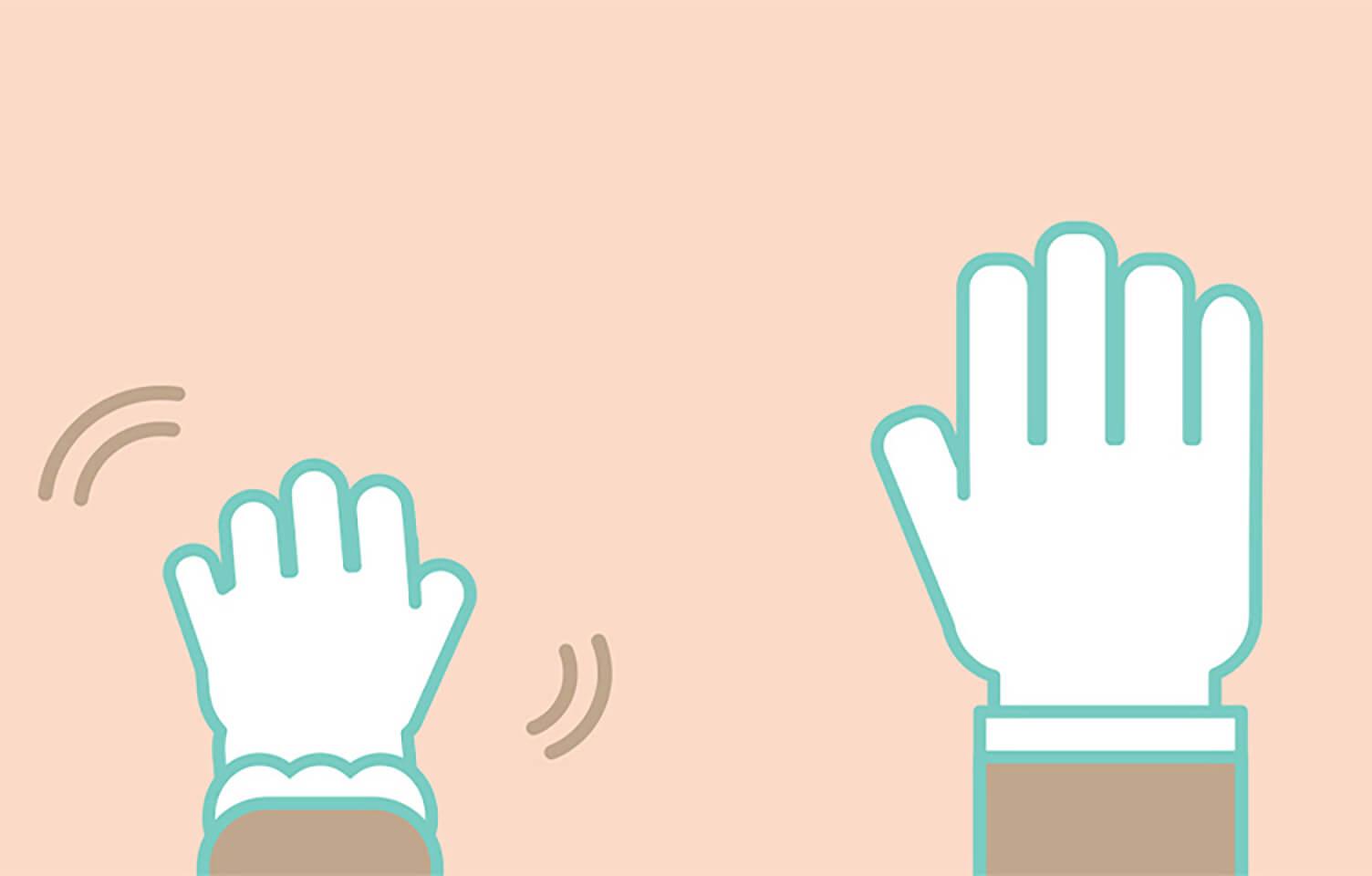 「大人より手先が不器用」のイメージ
