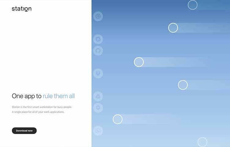 アシンメトリーなスプリットスクリーンを使ったウェブデザインの画像