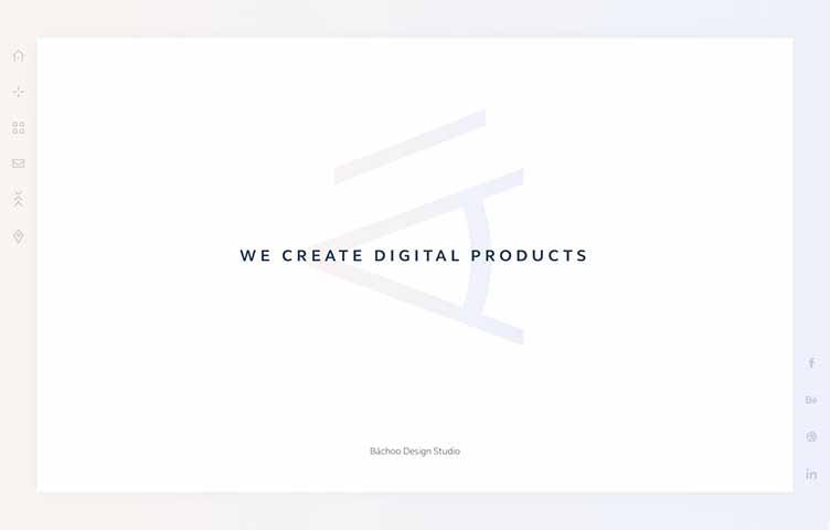 シャドウを用いたセミフラットデザインを使ったウェブデザインの画像